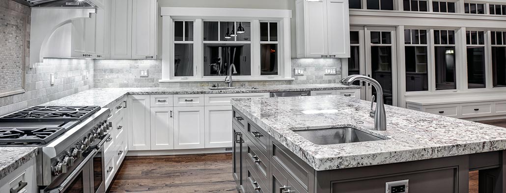 White-granite-Kitchen